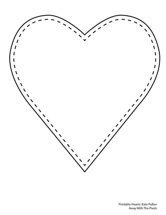 Heart-shaped clipart printable #6