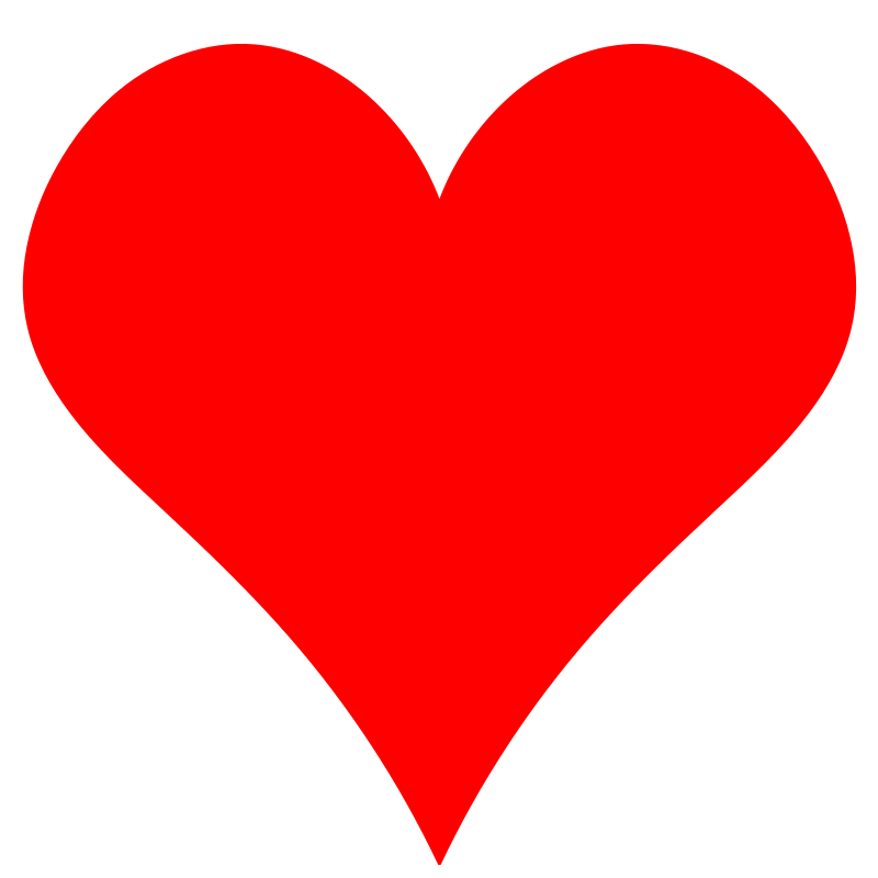 Heart-shaped clipart red heart On Plain  Free Clip
