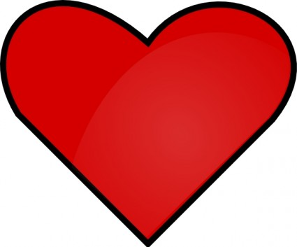 Heart-shaped clipart red heart Free  Clip Red Art