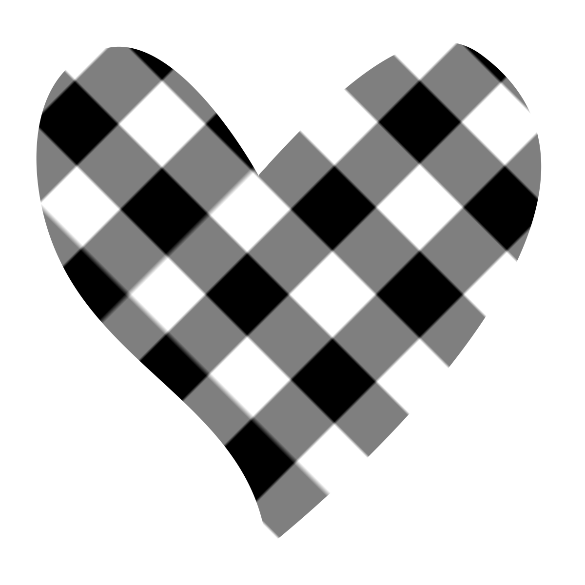 Heart-shaped clipart simple #6