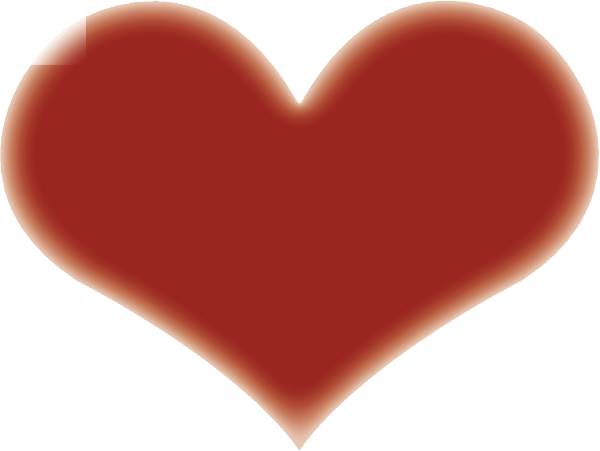 Heart-shaped clipart simple #7