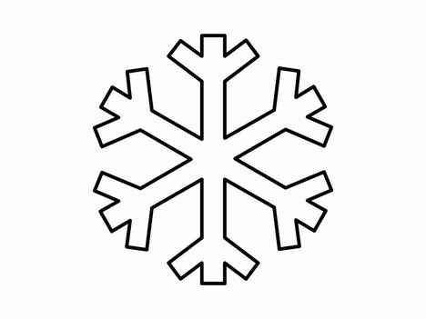 Templates  clipart snowflake #2