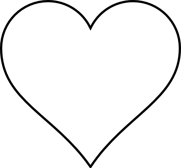 Heart-shaped clipart simple #2