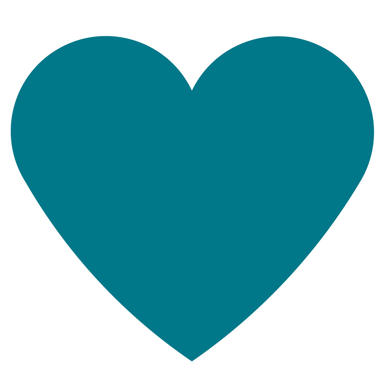 Heart-shaped clipart simple #5