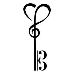 Heart-shaped clipart skeleton key Tattoo shape your with Skeleton