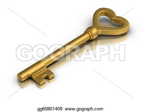 Heart-shaped clipart skeleton key Clipart Shaped Skeleton Stock