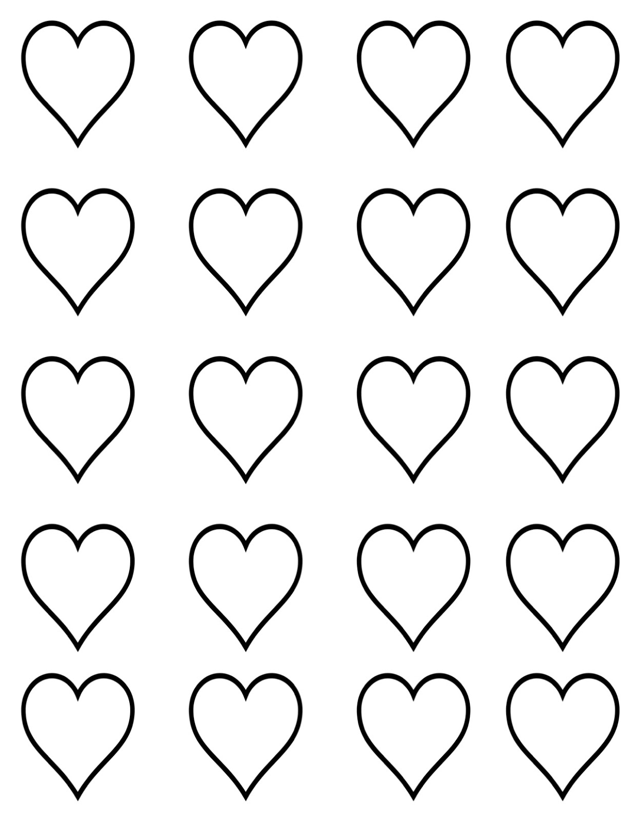 Heart-shaped clipart small #15