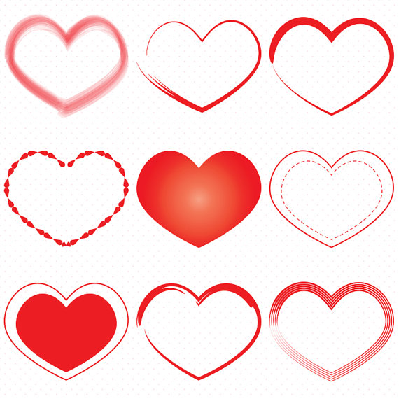 Heart-shaped clipart small #3