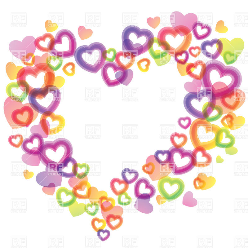 Heart-shaped clipart small #12