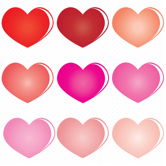 Heart-shaped clipart small #5