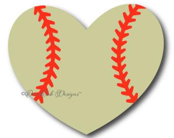 Hearts clipart softball PDF jpg Heart SVG File