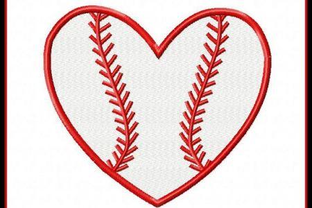 Heart-shaped clipart softball UK clipartsgramcom Clipart Baseball Shaped