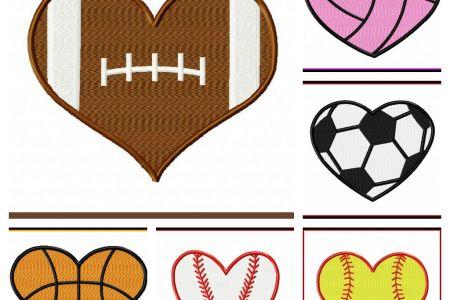 Heart-shaped clipart softball UK Shaped Balls Sports Art