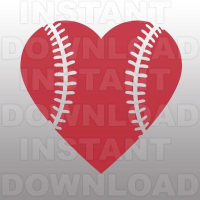 Heart-shaped clipart softball Heart Clipart Details Shaped Baseball