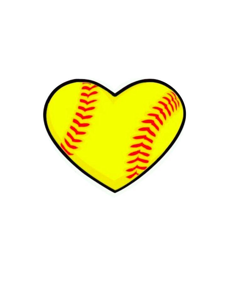 Heart-shaped clipart softball Softball Google Day Pinterest on