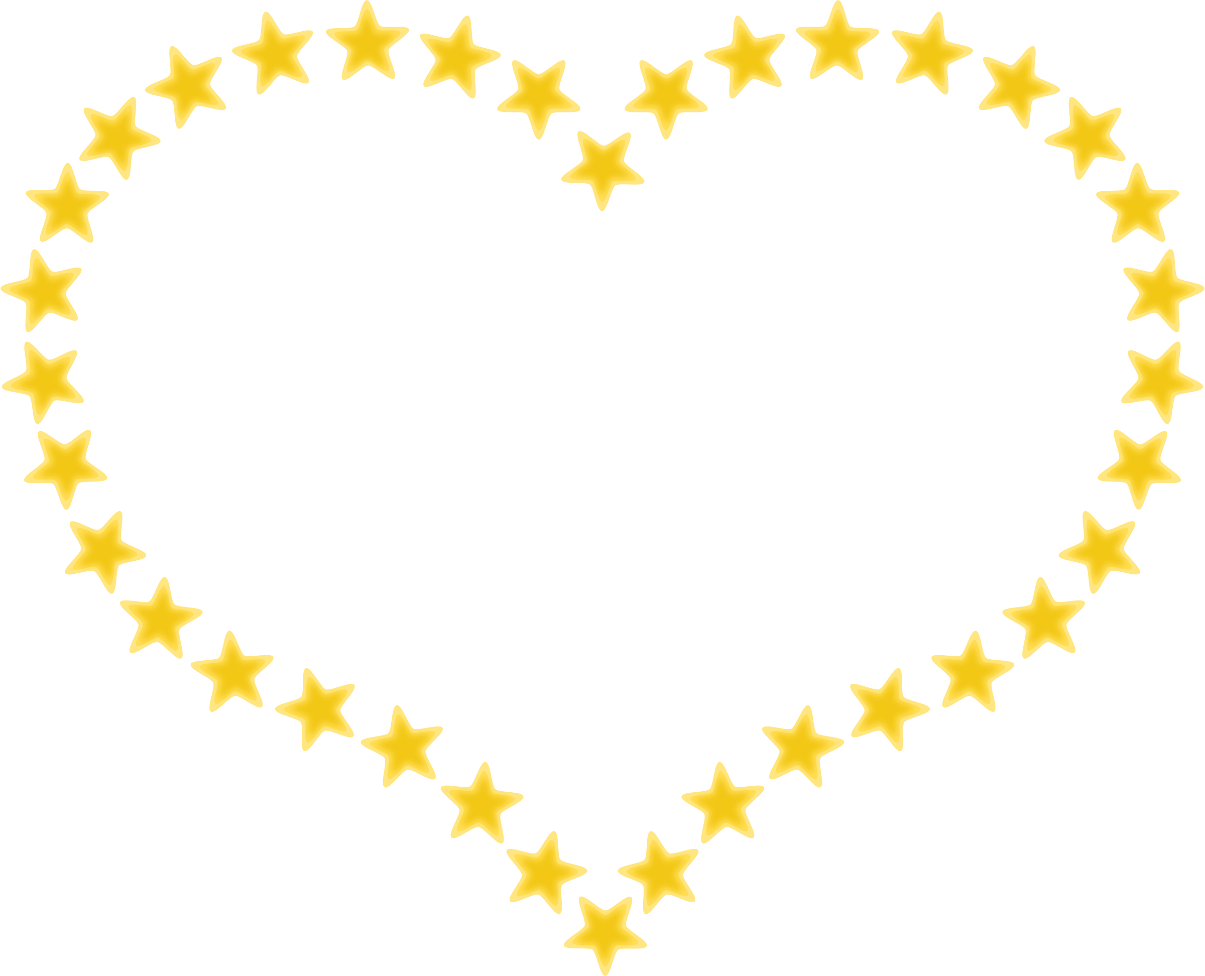 Heart-shaped clipart star shape #5