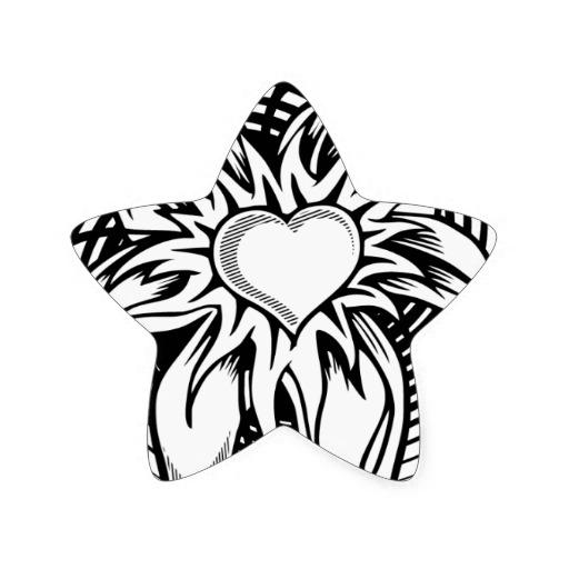 Heart-shaped clipart star shape #14