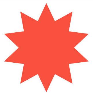 Heart-shaped clipart star shape #13