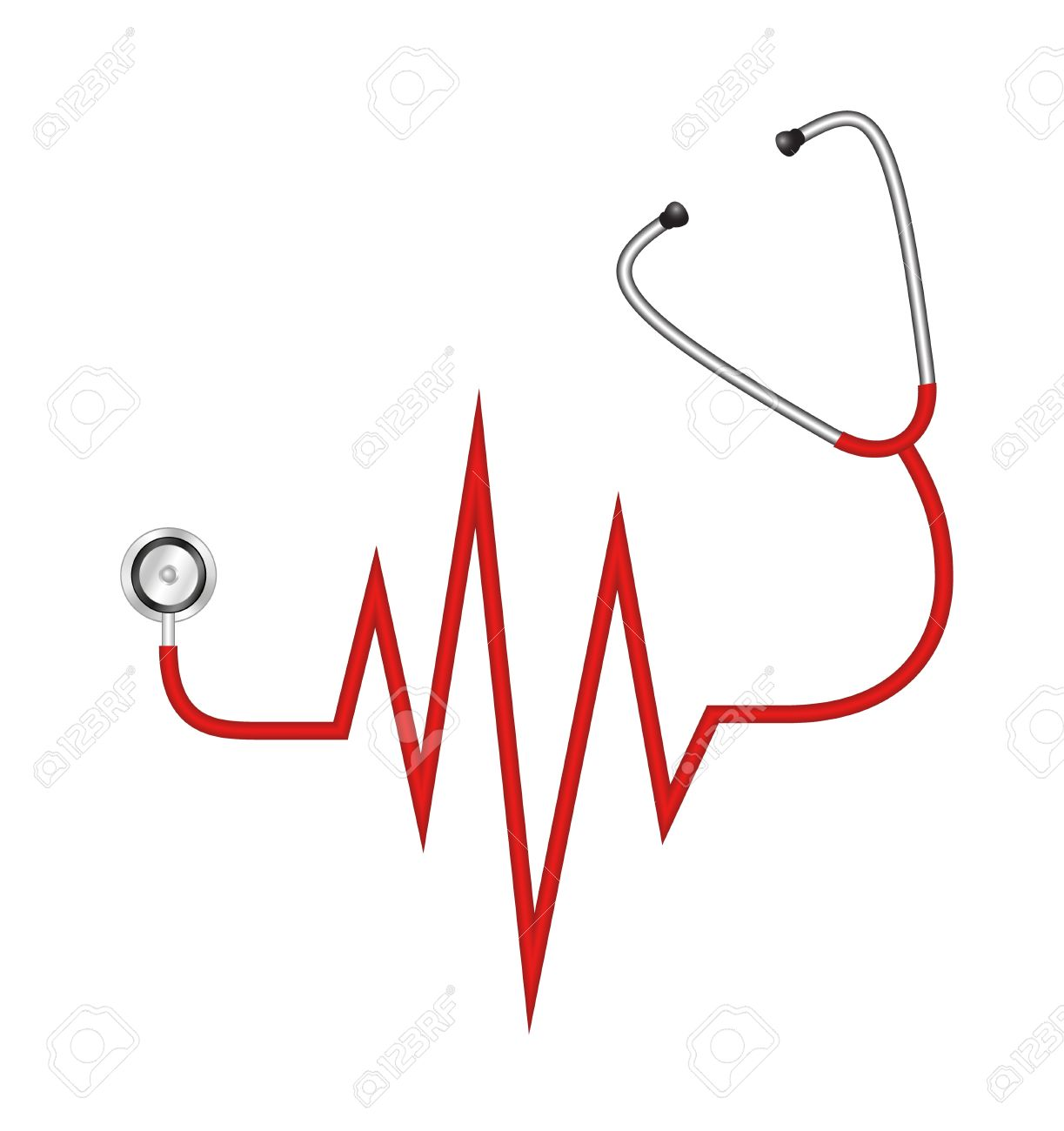 Heart-shaped clipart stethescope #2