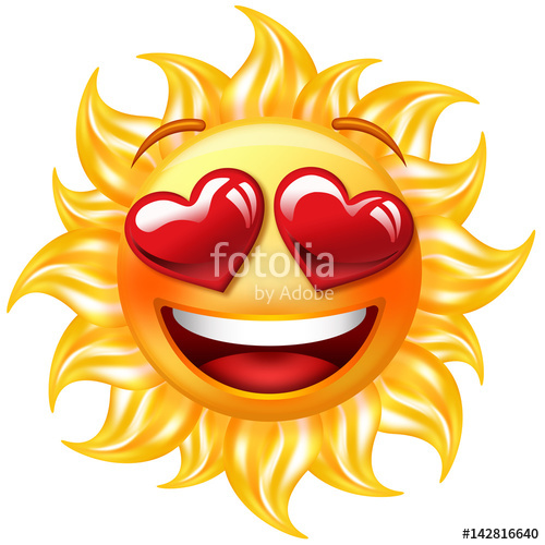 Heart-shaped clipart sun With sun Happy  love