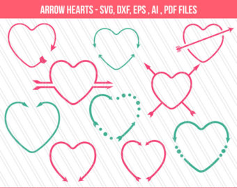 Heart-shaped clipart svg #10