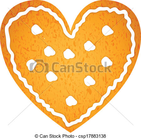 Heart-shaped clipart vector art Heart Vectors csp17883138 gingerbread csp17883138