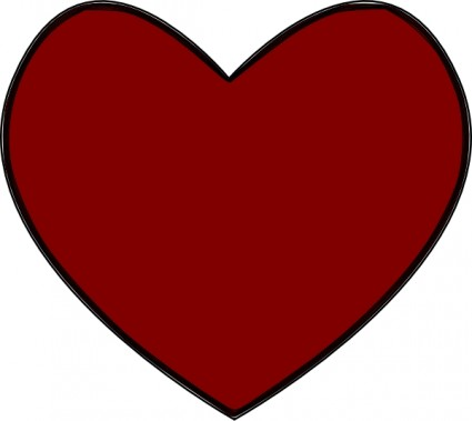 Heart-shaped clipart vector art Free Red vector files) (about