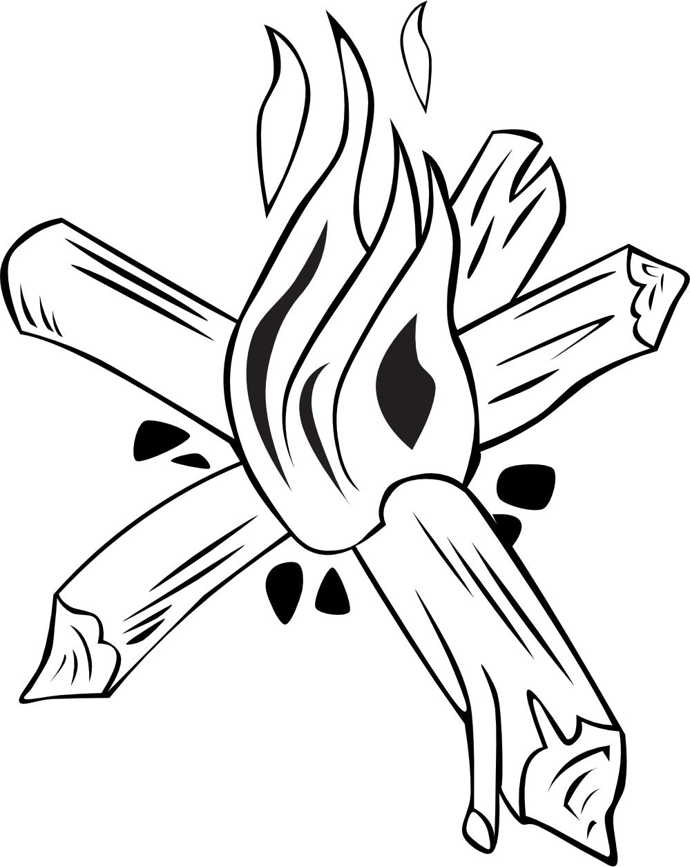 Drawn campire transparent Clipart White black%20and%20white%20campfire%20clipart Images And