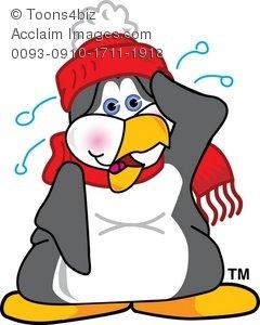 Penguin clipart vintage Hot Cartoon Sweating Cartoon Sweating