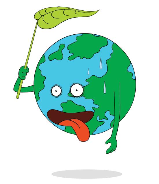 Heat clipart climate change Climate Illustration Cities Earth leaf