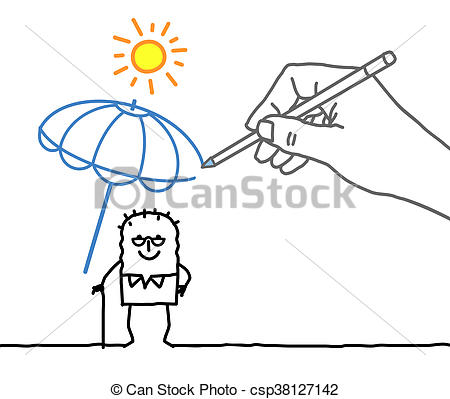Heat clipart drawing Heat protection character and protection
