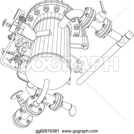 Heat clipart drawing Exchanger gg82816381 heat scetch view