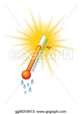 Heat clipart drawing Sun gg56318413 thermometer heat vector