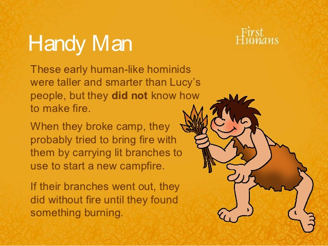 Heat clipart early human Handy humans like 9 ppt