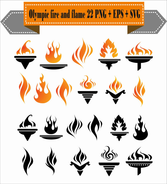 Heat clipart fire burning Burning Scrapbook Silhouette Fire EPS
