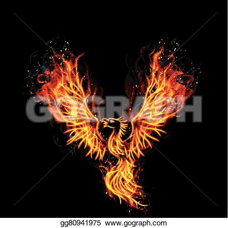 Heat clipart fire burning Burning Fire black gg80941975 of