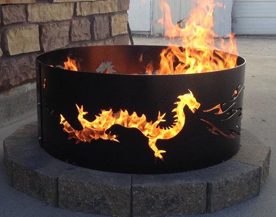 Heat clipart fire pit DRAGON fire Metal Fire outdoor