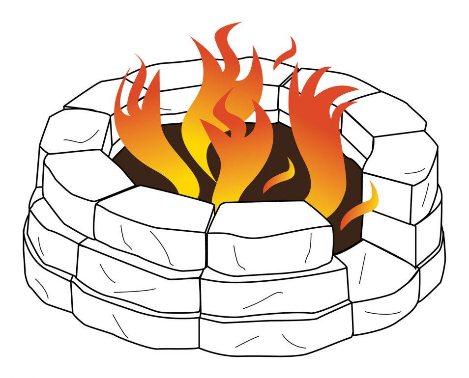 Heat clipart fire pit Peach Campfire Build Pit Fire