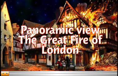 Heat clipart great fire london Flash View Panoramic The Interactive