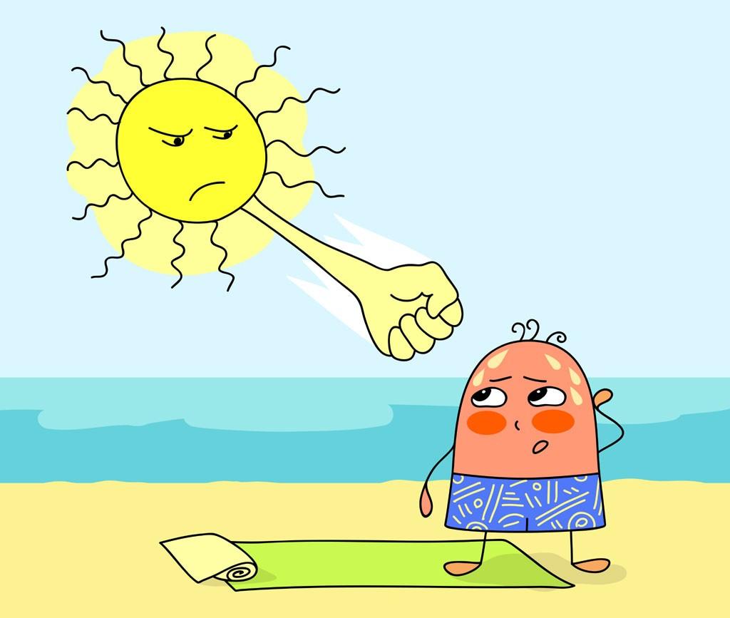 Heat clipart heat stroke #6