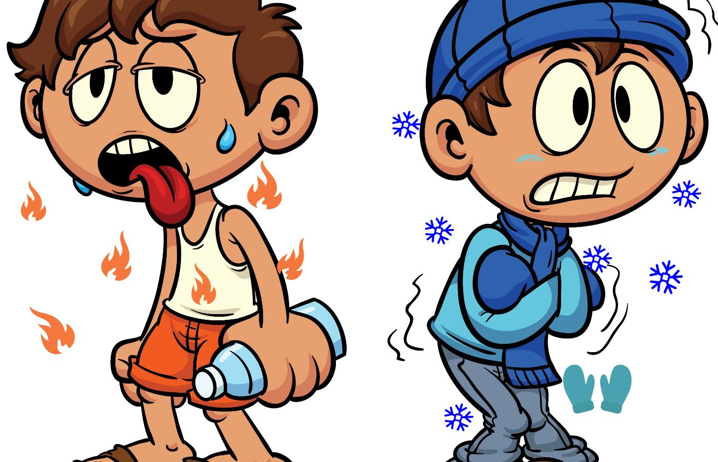 Heat clipart hot and cold Environment Warmth Coldness the Heat