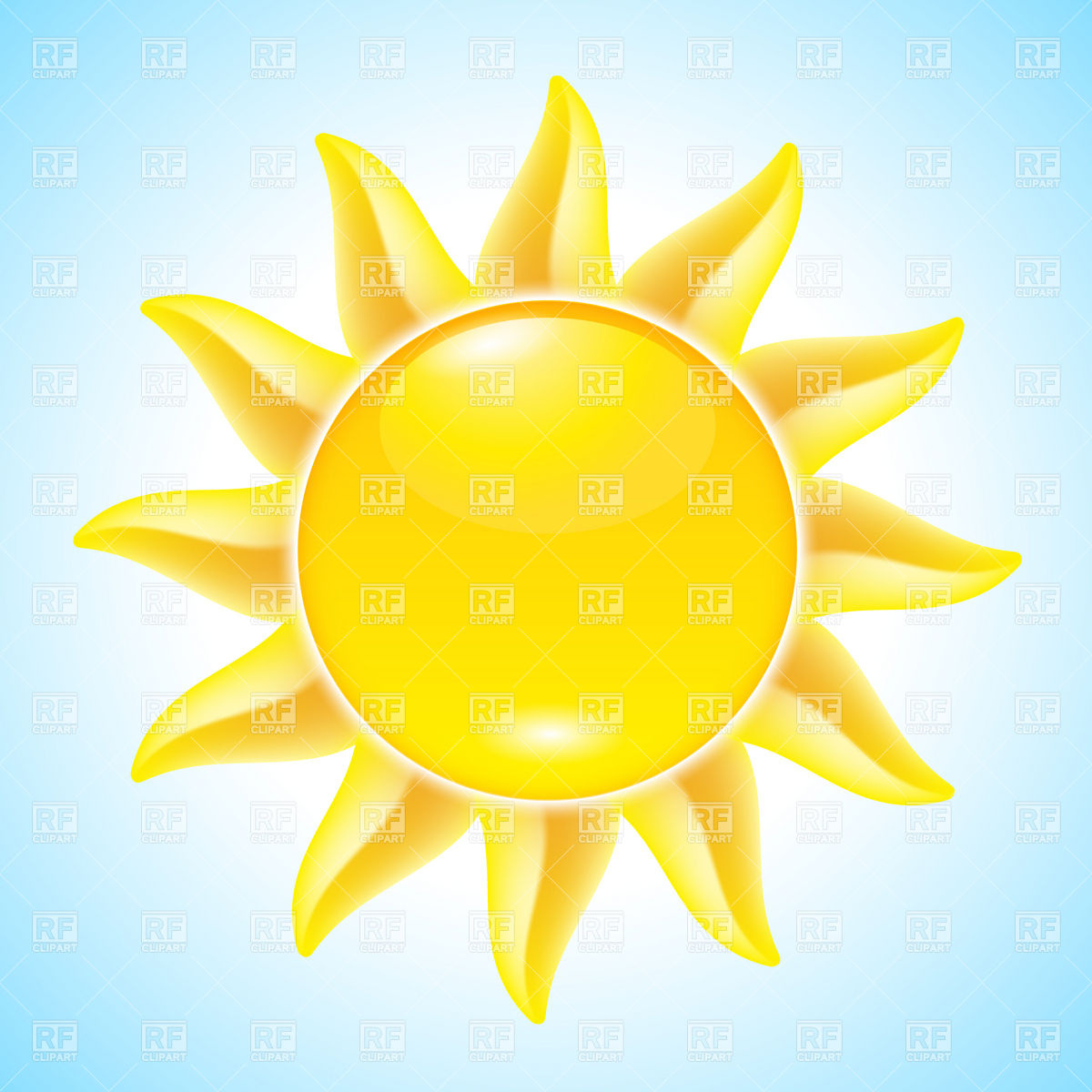 Bright clipart hot summer sun Summer Day Sun Clip Art