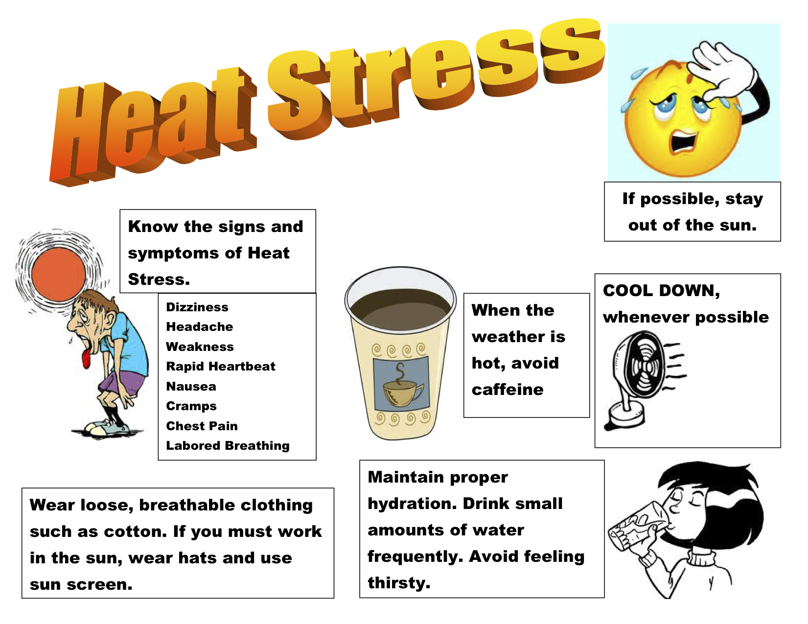 Heat clipart hydration Heat the Stress Summertime…Know Its