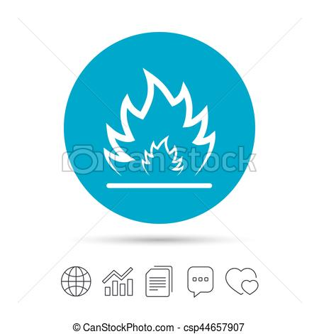 Heat clipart icon Vector Heat files flame Fire