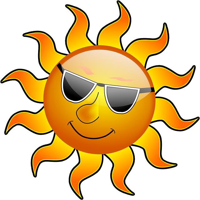 Heat clipart matahari Sunshine Cool Swim Smile Holidays