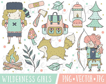 Heat clipart wilderness Lumberjack Clipart Girl Images Woodland