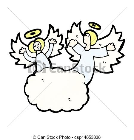 Heaven clipart  with in cartoon angels
