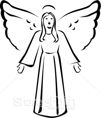 Heaven clipart angel  Black Clipart Angel White