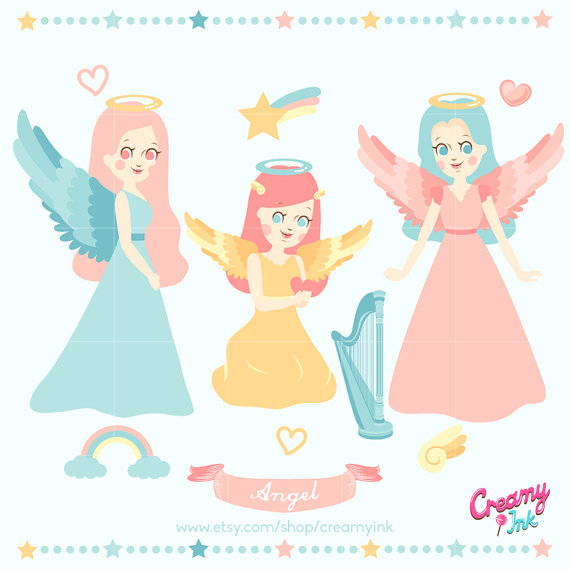 Heaven clipart angel Angel Digital Heaven Clip Vector