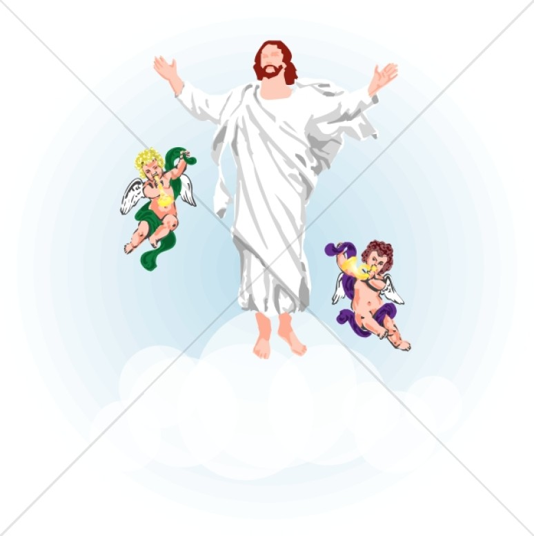 Heaven clipart ascension day Clouds Jesus Ascension See Clipart